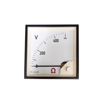Đồng hồ tủ điện: AC. Voltmeter 0-500V, 72 x 72, Class 1.5 DE72-500V