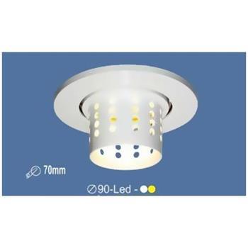 Đèn âm trần led Ø90 mm, khoét lỗ Ø70mm, ánh sáng trắng & vàng vỏ trắng E 2332