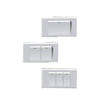 Công tắc đơn chữ nhật bản nhỏ 1 chiều 10A có đèn báo E201D1N1N E201D1N1N