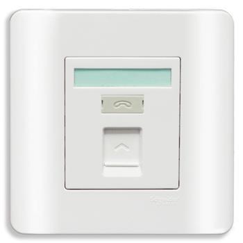 Bộ ổ cắm điện thoại đơn màu trắng E8431RJS4_G19