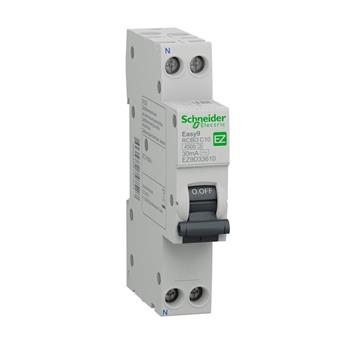 Easy9 Slim RCBO 1PN C 6A 30mA (AC Type) EZ9D33606