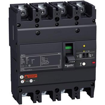 Thiết bị đóng cắt EZCV250 4P 63A type H,lcu=36ka 415 VAC EZCV250H4063