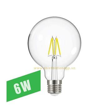 Bóng đèn Led Filament GT95 - 6W FLM-6/G95
