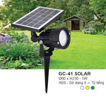 Đèn Ghim Cỏ 5W, Ø60*H230, ABS- Ánh Sáng Trắng, Vàng, Xanh Lá GC-41 SOLAR