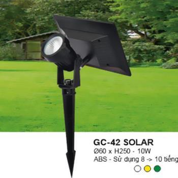 Đèn Ghim Cỏ 5W, Ø60*H230, ABS- Ánh Sáng Trắng, Vàng, Xanh Lá GC-42 SOLAR