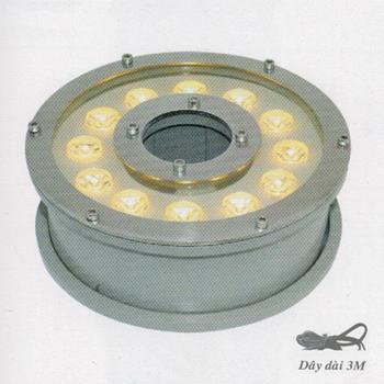 Đèn pha dưới nước HBG 18W màu vàng HBG 18W