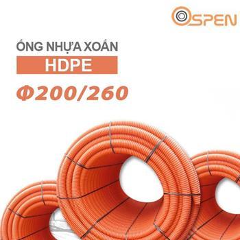 Ống nhựa xoắn chịu lực HDPE phi 200/260 OSPEN Φ 200