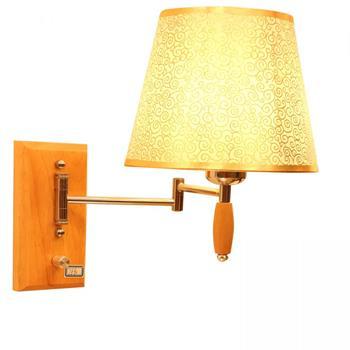 Đèn gắn tường đầu giường ngủ sang trọng chân gỗ Venus HT7880 HT7880