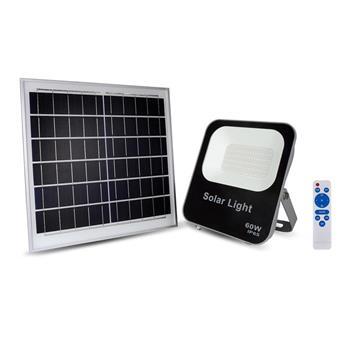 Đèn pha led năng lượng mặt trời KingEco 100W, a.s trắng EC-FLSL-100-T