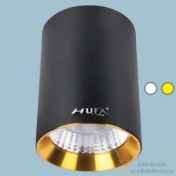 Đèn downlight ốp nổi led COB Ø90*H120-10W, vỏ màu đen LN-20 COB