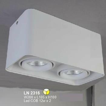 Đèn lon led cao cấp W200 x L105 x H100 vỏ trắng LN-2316