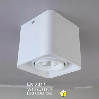 Đèn lon led cao cấp W105 x H100 vỏ trắng LN-2317