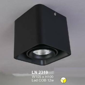 Đèn lon led cao cấp W105 x H100 vỏ đen LN-2319