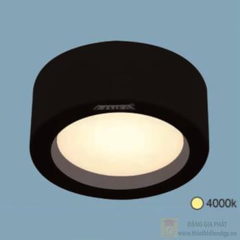 Đèn downlight ốp nổi led Ø140*H68-10W, vỏ màu đen LN-26