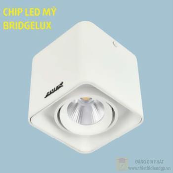 Đèn downlight ốp nổi led COB L105*W105*H100-10W, vỏ màu trắng LN-27 LED