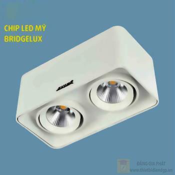 Đèn downlight ốp nổi led COB L105*W200*H100-10W*2, vỏ màu trắng LN-29 LED