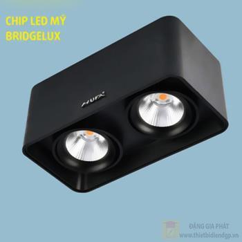 Đèn downlight ốp nổi led COB L105*W200*H100-10W*2, vỏ màu đen LN-30 LED