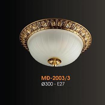 Đèn mâm Verona ốp trần Đồng Ø300, E27 MĐ-2003/3