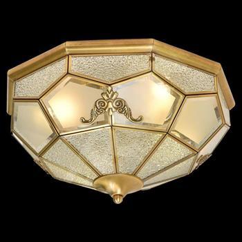 Đèn mâm Verona ốp trần Đồng Ø370, E27 MĐ-7002/4