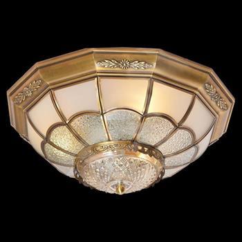 Đèn mâm Verona ốp trần Đồng Ø400, E27 MĐ-7028/4