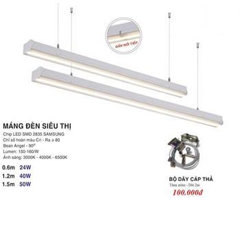 Đèn thả văn phòng, siêu thị Euroto MDST