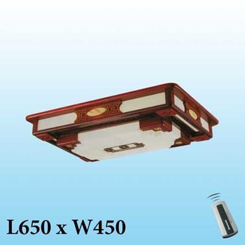 Đèn mâm trần gỗ MG-001 LED 3 màu MG-001
