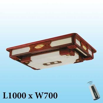 Đèn mâm trần gỗ MG-002 LED 3 màu MG-002