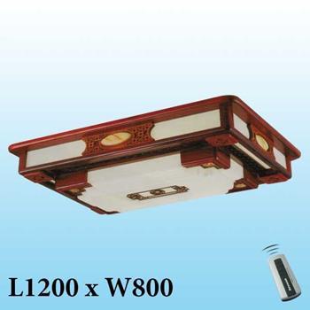 Đèn mâm trần gỗ MG-003 LED 3 màu MG-003
