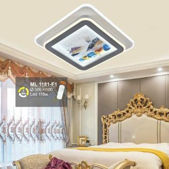 Đèn mâm ốp trần led Ø500*H100, Led 115W, có remote, 3 chế độ ánh sáng ML 1181-F1