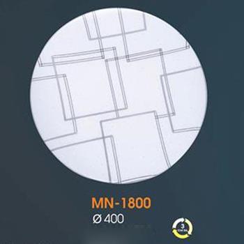 Đèn mâm Verona ốp trần Led Mica Ø400, ánh sáng 3 chế độ MN-1800