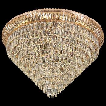 Đèn mâm Verona ốp trần pha lê Ø1000 x H600, LED SMD, ánh sáng 3 chế độ MPL-7702/1000