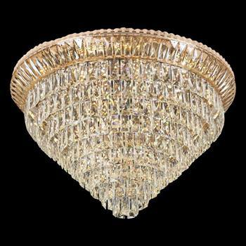 Đèn mâm Verona ốp trần pha lê Ø800 x H520, LED SMD, ánh sáng 3 chế độ MPL-7702/800