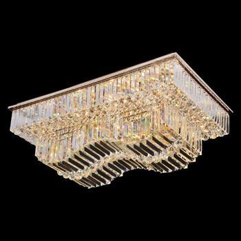 Đèn mâm Verona ốp trần pha lê L980 x W680, ánh sáng 3 chế độ MPL-9622