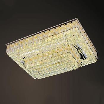 Đèn mâm Verona ốp trần pha lê L1050 x W750, ánh sáng 3 chế độ MPL-9650