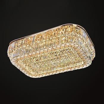 Đèn mâm Verona ốp trần pha lê L1200 x W800, ánh sáng 3 chế độ MPL-9680