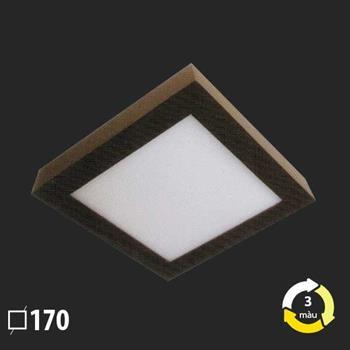 Đèn ốp trần vuông nổi 170x170 MSS-624 SMD 12W MSS-624