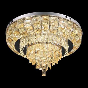 Đèn mâm Verona ốp trần pha lê Led Ø600 x H300, ánh sáng 3 chế độ MT-3659/600