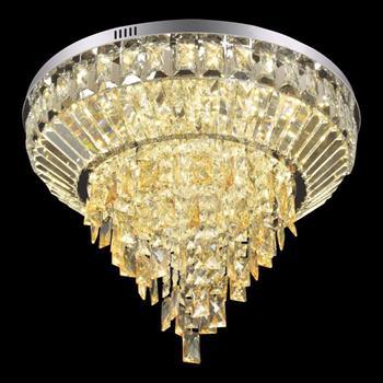 Đèn mâm Verona ốp trần pha lê Ø600 x H300, ánh sáng 3 chế độ MT-3665