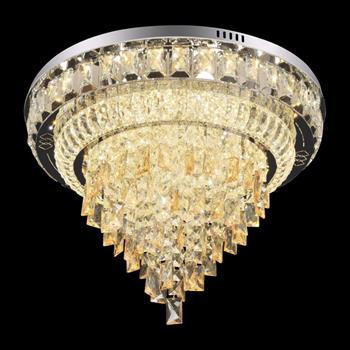 Đèn mâm Verona ốp trần pha lê Ø800 x H350, ánh sáng 3 chế độ MT-3668