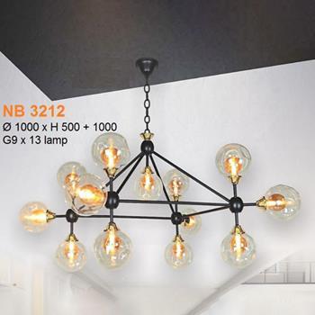 Đèn treo quán kiểu sang trọng Ø1000*H500+1000, G9*13 Lamp NB 3212