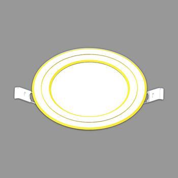 Đèn led downlight 3s seri - IP20 9W viền vàng 3 màu NDL09CG90