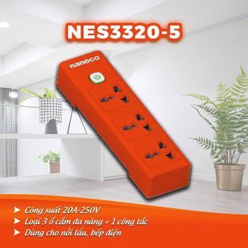 Ổ cắm dây điện 3m, 20A-220V NES3320-3