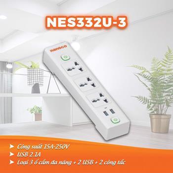 Ổ cắm dây điện 3m, 15A-220V NES332U-3