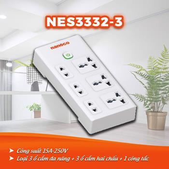 Ổ cắm dây điện 3m, 15A-220V NES3332-3