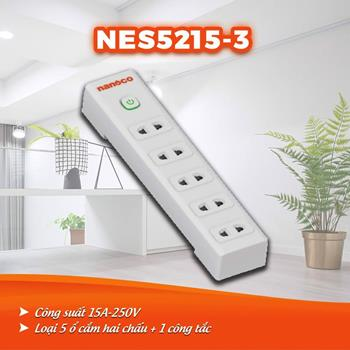 Ổ cắm dây điện 3m, 15A-220V NES5215-3