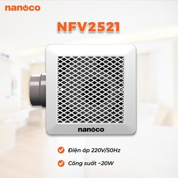 Quạt hút âm trần lồng sóc Nanoco NFV2521