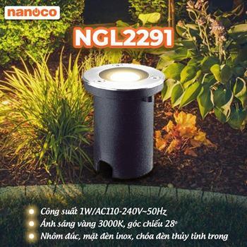 Đèn sân vườn LED âm đất tròn Ø67xH117mm NGL2291