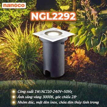Đèn sân vườn LED âm đất vuông L67xW67xH117mm NGL2292