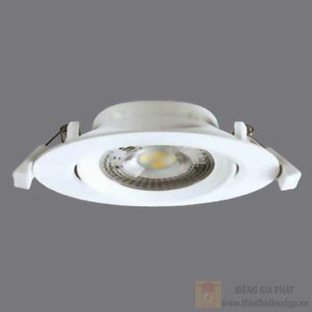 Đèn downlight điều chỉnh góc, công suất 7W -220V NNNC