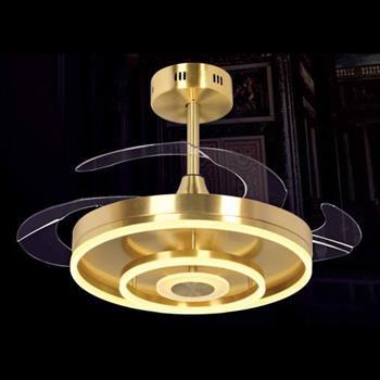 Quạt đèn Ø500 - 900 x H500, led 36W, 3 màu ánh sáng NQ 9902